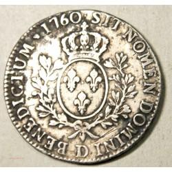 Louis XV, écu au bandeau 1760 D Lyon R3, lartdesgents.fr