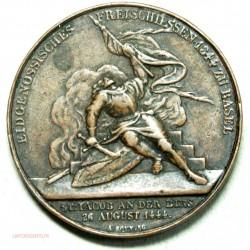 Médaille fédérale suisse de tir libre de Bâle 1844 par A.  BOVY