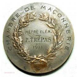 Médaille  CHAMBRE DE MACONNERIE décernée en 1911 par H.DUBOIS
