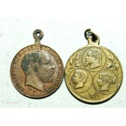 Médaillettes EDOUARD VII et Famille Napoléon III
