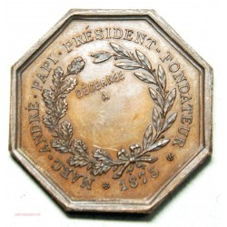 JETON Académie Christophe Colomb 1875, Rare. lartdesgents.fr