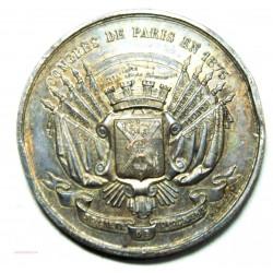 Médaille Congrès de Paris 1875, Topographie de France bronze 28grs 41mm