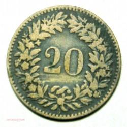 Suisse -   20 rappen 1858, lartdesgents.fr Avignon
