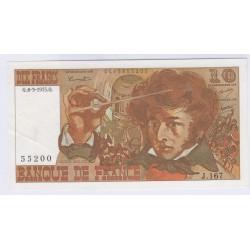 BILLET FRANCE 10 FRANCS BERLIOZ 06-03-1975 SUP L'ART DES GENTS AVIGNON