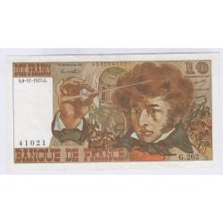 BILLET FRANCE 10 FRANCS BERLIOZ 06-11-1975 TTB+L'ART DES GENTS AVIGNON
