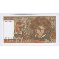 BILLET FRANCE 10 FRANCS BERLIOZ 06-11-1975 TTB+ L'ART DES GENTS AVIGNON