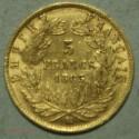 NAPOLEON III 5 Francs or 1863 bb Strasbourg, lartdesgents.fr Avignon