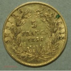 NAPOLEON III 5 Francs or 1856 A Paris, lartdesgents.fr Avignon