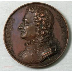 Médaille FRANCOIS CHEVRET 1821 signée CAQUE.F lartdesgents.fr