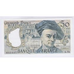 BILLET FRANCE 50 FRANCS QUENTIN DE LA TOUR 1991 NEUF W66 L'ART DES GENTS