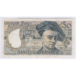 BILLET FRANCE 50 FRANCS QUENTIN DE LA TOUR 1979 L'ART DES GENTS