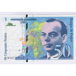 BILLET FRANCE 50 FRANCS SAINT-EXUPERY 1994 NEUF L'ART DES GENTS AVIGNON