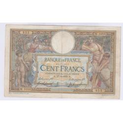 BILLET FRANCE 100 FRANCS LOM 05-07-1909 TB+ L'ART DES GENTS AVIGNON