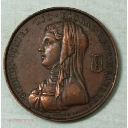 Médaille 1819 CLEMEN-ISAURA Lus. Floral Restauratrix. signée eugene dubois