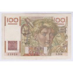 BILLET FRANCE 100 FRANCS JEUNE PAYSAN 17-07-1947 SPL L'ART DES GENTS