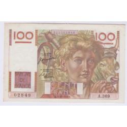 BILLET FRANCE 100 FRANCS JEUNE PAYSAN 12-10-1950 L'ART DES GENTS
