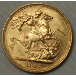 Souverain, Souvereign Victoria 1887 S, lartdesgents.fr