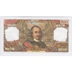 BILLET FRANCE 100 FRANCS CORNEILLE 05-10-1972 COTE 120 Euros L'ART DES GENTS
