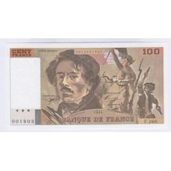 BILLET FRANCE 100 FRANCS DELACROIX 1994 NEUF L4ART DES GENTS NUMISMATIQUE AVIGNON