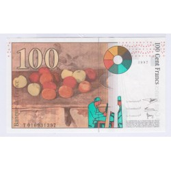 BILLET FRANCE 100 FRANCS CEZANNE 1997 NEUF L'ART DES GENTS AVIGNON