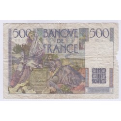 BILLET FRANCE 500 FRANCS CHATEAUBRIAND 06-09-1945 L'ART DES GENTS AVIGNON