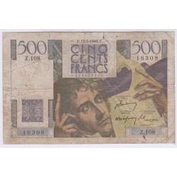 BILLET FRANCE 500 FRANCS CHATEAUBRIAND L'ART DES GENTS AVIGNON