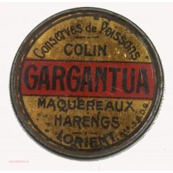 RARE TIMBRE MONNAIE - Gargantua 5C vert sur fond rouge
