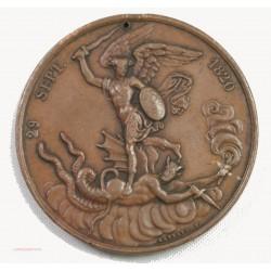 """Médaille bronze .1820 29 septembre """"Dieu nous l'a donné"""" Graveur GAYRARD"""