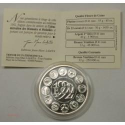 ECU CERES Europa, Argent 925/00 40grs 1992 + certificat, lartdesgents.fr