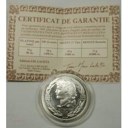 ECU CERES Europa, Argent 925/00 40grs 1990 + certificat, lartdesgents.fr