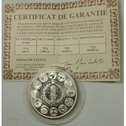 ECU CERES Europa, Argent 925/00 40grs 1989 + certificat, lartdesgents.fr