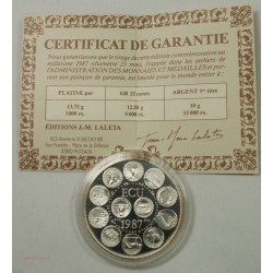 ECU CERES Europa, Argent 925/00 40grs 1987 + certificat, lartdesgents.fr