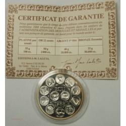ECU CERES Europa, Argent 925/00 40grs 1988 + certificat, lartdesgents.fr