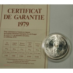 ECU Europa, Argent 925/00 40grs 1979 + certificat, lartdesgents.fr