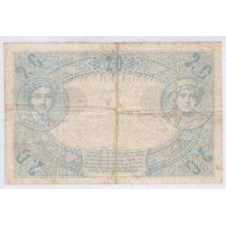BILLET FRANCE 20 FRANCS NOIR A.6 Novembre 1874 Etat TB+ L'ART DES GENTS NUMISMATIQUE AVIGNON