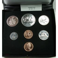 CANADA - Set PROOF 7 pièces 1987, lartdesgents.fr