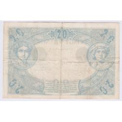 BILLET FRANCE 20 FRANCS NOIR B. 6 Novembre 1874 Etat TB+ L'ART DES GENTS AVIGNON