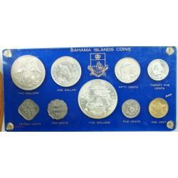 BAHAMAS ISLAND COINS - set de 9 pièces 1966, TOP... lartdesgents.fr