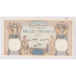 BILLET DE FRANCE CERES ET MERCURE 1000 FRANCS 1940 L'ART DES GENTS