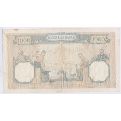 BILLET FRANCE CERES ET MERCURE 1000 FRANCS 21-09-1939 SUP L'ART DES GENTS AVIGNON