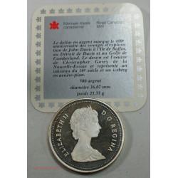 CANADA - 1587-1987 1 dollar détroit de Davis STRAIT, lartdesgent.fr