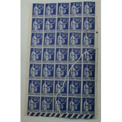 RARE Variété spétaculaire N°368 90c bleu, impression sur raccord, lartdesgents.fr