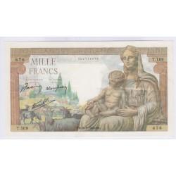 BILLET DE 1000 FRANCS DEMETER 02-06-1943 TTB+ L'ART DES GENTS