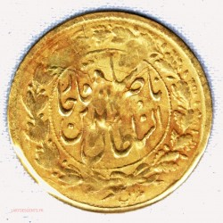 PERSE or - 5000 Dinars 1/2 toman AH1299 (1882), lartdesgents.fr
