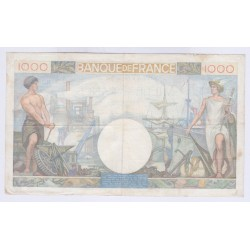 BILLET FRANCE 1000 FRANCS COMMERCE ET INDUSTRIE 6-02-1941 L'ART DES GENTS AVIGNON