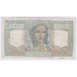 BILLET FRANCE 1000 FRANCS MINERVE ET HERCULE 22-11-1945 L'ART DES GENTS AVIGNON