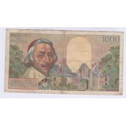 BILLET FRANCE 1000 FRANCS RICHELIEU 01-07-1954 L'ART DES GENTS AVIGNON