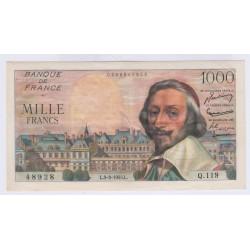 BILLET FRANCE 1000 FRANCS RICHELIEU 03-03-1955 SUP  L'ART DES GENTS AVIGNON