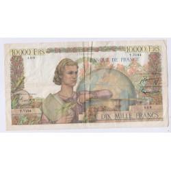 BILLET FRANCE 10000 FRANCS GENIE 01-07-1954  TTB L'ART DES GENTS