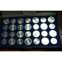 CANADA - coffret 14x 5$ et 14x 10$, Olympiade de Montréal 1976